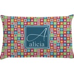 Retro Squares Pillow Case (Personalized)