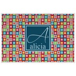 Retro Squares Laminated Placemat w/ Name and Initial