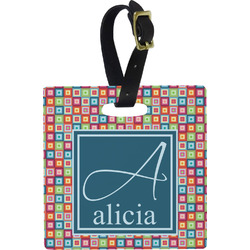 Retro Squares Luggage Tags (Personalized)