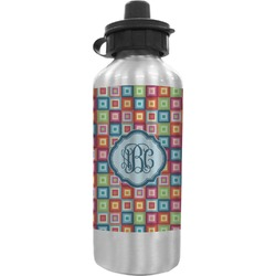 Retro Squares Water Bottle (Personalized)