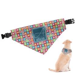 Retro Squares Dog Bandana (Personalized)