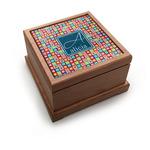 Retro Squares Pet Urn w/ Name and Initial