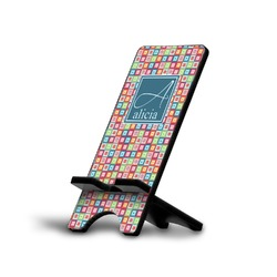 Retro Squares Phone Stand (Personalized)