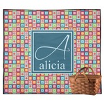 Retro Squares Outdoor Picnic Blanket (Personalized)