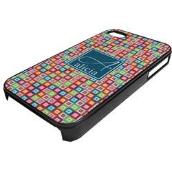 Retro Squares Plastic 4/4S iPhone Case (Personalized)