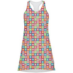 Retro Squares Racerback Dress (Personalized)