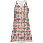 Retro Squares Racerback Dress (Personalized)
