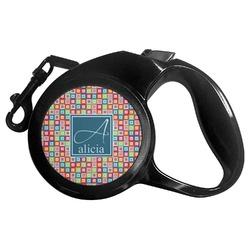 Retro Squares Retractable Dog Leash (Personalized)