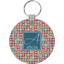 Retro Squares Keychains - FRP (Personalized)