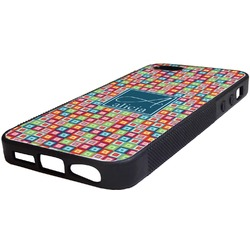 Retro Squares Rubber iPhone 5/5S Phone Case (Personalized)
