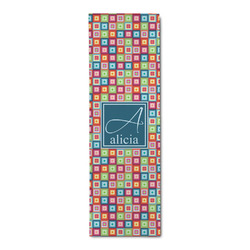 Retro Squares Runner Rug - 3.66'x8' (Personalized)