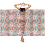 Retro Squares Sheer Sarong (Personalized)