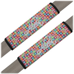 Retro Squares Seat Belt Covers (Set of 2) (Personalized)