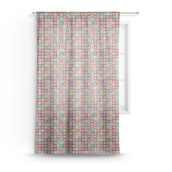 Retro Squares Sheer Curtains (Personalized)