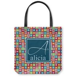 Retro Squares Canvas Tote Bag (Personalized)