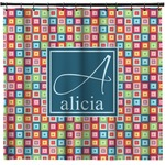 Retro Squares Shower Curtain (Personalized)