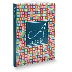 Retro Squares Softbound Notebook (Personalized)