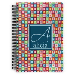 Retro Squares Spiral Bound Notebook (Personalized)