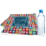 Retro Squares Sports & Fitness Towel (Personalized)