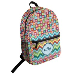 Retro Squares Student Backpack (Personalized)