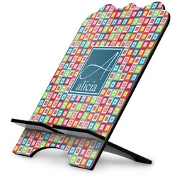 Retro Squares Stylized Tablet Stand (Personalized)