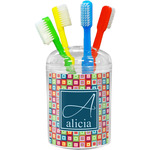 Retro Squares Toothbrush Holder (Personalized)