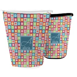 Retro Squares Waste Basket (Personalized)