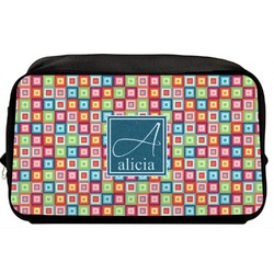 Retro Squares Toiletry Bag / Dopp Kit (Personalized)
