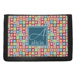 Retro Squares Trifold Wallet (Personalized)