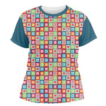 Retro Squares Women's Crew T-Shirt (Personalized)