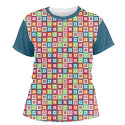 Retro Squares Women's Crew T-Shirt (Personalized)
