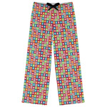 Retro Squares Womens Pajama Pants (Personalized)