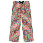 Retro Squares Womens Pajama Pants (Personalized)