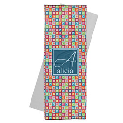 Retro Squares Yoga Mat Towel (Personalized)