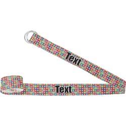 Retro Squares Yoga Strap (Personalized)