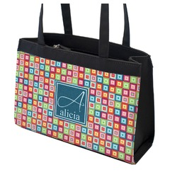 Retro Squares Zippered Everyday Tote (Personalized)