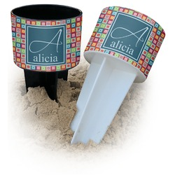 Retro Squares Beach Spiker Drink Holder (Personalized)