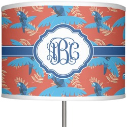 """Blue Parrot 13"""" Drum Lamp Shade (Personalized)"""