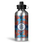 Blue Parrot Water Bottle - Aluminum - 20 oz (Personalized)