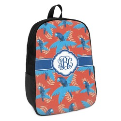 Blue Parrot Kids Backpack (Personalized)