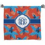 Blue Parrot Full Print Bath Towel (Personalized)