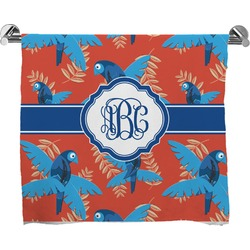 Blue Parrot Full Print Bath Towel (Personalized)