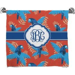 Blue Parrot Bath Towel (Personalized)