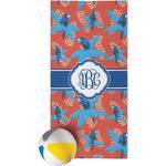 Blue Parrot Beach Towel (Personalized)