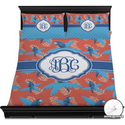 Blue Parrot Duvet Cover Set (Personalized)