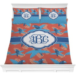 Blue Parrot Comforter Set (Personalized)