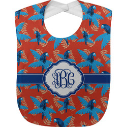 Blue Parrot Baby Bib (Personalized)
