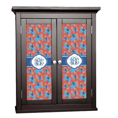 Blue Parrot Cabinet Decal - Custom Size (Personalized)