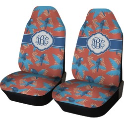 Blue Parrot Car Seat Covers (Set of Two) (Personalized)
