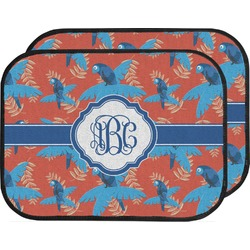 Blue Parrot Car Floor Mats (Back Seat) (Personalized)